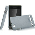 IMAK Cowboy Shell Quicksand Hard Cases Covers for Motorola XT390 - Gray (High transparent screen protector)