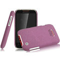 IMAK Cowboy Shell Quicksand Hard Cases Covers for Motorola XT550 - Purple (High transparent screen protector)