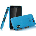 IMAK Cowboy Shell Quicksand Hard Cases Covers for Motorola XT760 - Blue (High transparent screen protector)