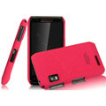 IMAK Cowboy Shell Quicksand Hard Cases Covers for Motorola XT760 - Rose (High transparent screen protector)