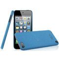 IMAK Cowboy Shell Quicksand Hard Cases Covers for iPod touch 5 - Blue (High transparent screen protector)