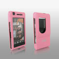 IMAK Full Cover Ultrathin Matte Color Shell Hard Cases for Sony Ericsson Satio U1 Idou - Pink (High transparent screen protector)