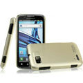 IMAK Titanium Color Covers Hard Cases for Motorola ME865 - Gold (High transparent screen protector)
