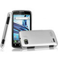 IMAK Titanium Color Covers Hard Cases for Motorola ME865 - Silver (High transparent screen protector)