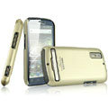 IMAK Titanium Color Covers Hard Cases for Motorola Photon 4G MB855 - Gold (High transparent screen protector)