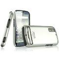 IMAK Titanium Color Covers Hard Cases for Motorola Photon 4G MB855 - Silver (High transparent screen protector)