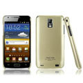 IMAK Titanium Color Covers Hard Cases for Samsung E110S Galaxy SII LTE - Gold (High transparent screen protector)