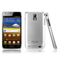 IMAK Titanium Color Covers Hard Cases for Samsung E110S Galaxy SII LTE - Silver (High transparent screen protector)