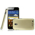 IMAK Titanium Color Covers Hard Cases for Samsung E120L GALAXY S2 SII HD LTE - Gold (High transparent screen protector)