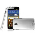 IMAK Titanium Color Covers Hard Cases for Samsung E120L GALAXY S2 SII HD LTE - Silver (High transparent screen protector)
