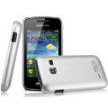 IMAK Titanium Color Covers Hard Cases for Samsung S5380 Wave Y - Silver (High transparent screen protector)