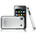 IMAK Titanium Color Covers Hard Cases for Samsung i9000 Galaxy S i9001 - Silver (High transparent screen protector)