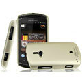 IMAK Titanium Color Covers Hard Cases for Sony Ericsson WT19i - Gold (High transparent screen protector)