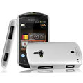 IMAK Titanium Color Covers Hard Cases for Sony Ericsson WT19i - Silver (High transparent screen protector)