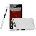 IMAK Ultra-thin Matte Color Covers Hard Cases for Motorola Droid RAZR XT910 XT912 - White (High transparent screen protector)