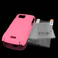 IMAK Ultrathin Color Covers Hard Cases for Samsung S8003 S8000 - Pink (High transparent screen protector)