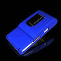 IMAK Ultrathin Color Covers Hard Cases for Sony Ericsson Satio U1 Idou - Blue (High transparent screen protector)
