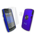IMAK Ultrathin Color Covers Hard Cases for Sony Ericsson U5 U5i Vivaz - Blue (High transparent screen protector)