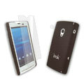 IMAK Ultrathin Color Covers Hard Cases for Sony Ericsson Xperia X10 - Brown (High transparent screen protector)