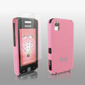 IMAK Ultrathin Matte Color Covers Hard Back Cases for Samsung Star S5230c - Pink (High transparent screen protector)