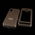 IMAK Ultrathin Matte Color Covers Hard Back Cases for Samsung Star S5230c S5233 - Brown (High transparent screen protector)