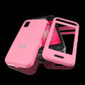 IMAK Ultrathin Matte Color Covers Hard Back Cases for Samsung Star S5230c S5233 - Pink (High transparent screen protector)