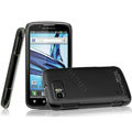 IMAK Ultrathin Matte Color Covers Hard Cases for Motorola ME865 - Black (High transparent screen protector)