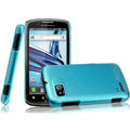 IMAK Ultrathin Matte Color Covers Hard Cases for Motorola ME865 - Blue (High transparent screen protector)