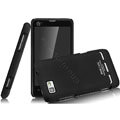 IMAK Ultrathin Matte Color Covers Hard Cases for Motorola MT680 - Black (High transparent screen protector)