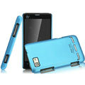 IMAK Ultrathin Matte Color Covers Hard Cases for Motorola MT680 - Blue (High transparent screen protector)