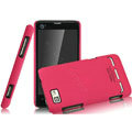 IMAK Ultrathin Matte Color Covers Hard Cases for Motorola MT680 - Rose (High transparent screen protector)