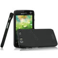 IMAK Ultrathin Matte Color Covers Hard Cases for Motorola MT917 - Black (High transparent screen protector)