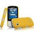 IMAK Ultrathin Matte Color Covers Hard Cases for Motorola XT316 - Yellow (High transparent screen protector)