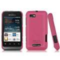 IMAK Ultrathin Matte Color Covers Hard Cases for Motorola XT320 - Rose (High transparent screen protector)
