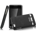 IMAK Ultrathin Matte Color Covers Hard Cases for Motorola XT390 - Black (High transparent screen protector)