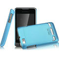 IMAK Ultrathin Matte Color Covers Hard Cases for Motorola XT390 - Blue (High transparent screen protector)