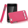 IMAK Ultrathin Matte Color Covers Hard Cases for Motorola XT390 - Rose (High transparent screen protector)