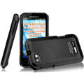 IMAK Ultrathin Matte Color Covers Hard Cases for Motorola XT535 - Black (High transparent screen protector)