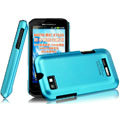IMAK Ultrathin Matte Color Covers Hard Cases for Motorola XT535 - Blue (High transparent screen protector)