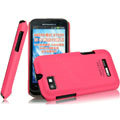 IMAK Ultrathin Matte Color Covers Hard Cases for Motorola XT535 - Rose (High transparent screen protector)