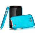 IMAK Ultrathin Matte Color Covers Hard Cases for Motorola XT550 - Blue (High transparent screen protector)