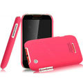 IMAK Ultrathin Matte Color Covers Hard Cases for Motorola XT550 - Rose (High transparent screen protector)