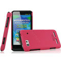 IMAK Ultrathin Matte Color Covers Hard Cases for Motorola XT615 - Rose (High transparent screen protector)