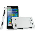 IMAK Ultrathin Matte Color Covers Hard Cases for Motorola XT615 - White (High transparent screen protector)