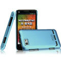 IMAK Ultrathin Matte Color Covers Hard Cases for Motorola XT681 - Blue (High transparent screen protector)