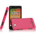 IMAK Ultrathin Matte Color Covers Hard Cases for Motorola XT681 - Rose (High transparent screen protector)