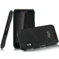 IMAK Ultrathin Matte Color Covers Hard Cases for Motorola XT760 - Black (High transparent screen protector)