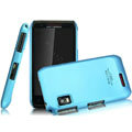 IMAK Ultrathin Matte Color Covers Hard Cases for Motorola XT760 - Blue (High transparent screen protector)