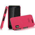 IMAK Ultrathin Matte Color Covers Hard Cases for Motorola XT760 - Rose (High transparent screen protector)