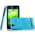 IMAK Ultrathin Matte Color Covers Hard Cases for Motorola XT928 - Blue (High transparent screen protector)